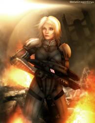 Mass Effect 2 - Freya Shepard by OrbitalWings