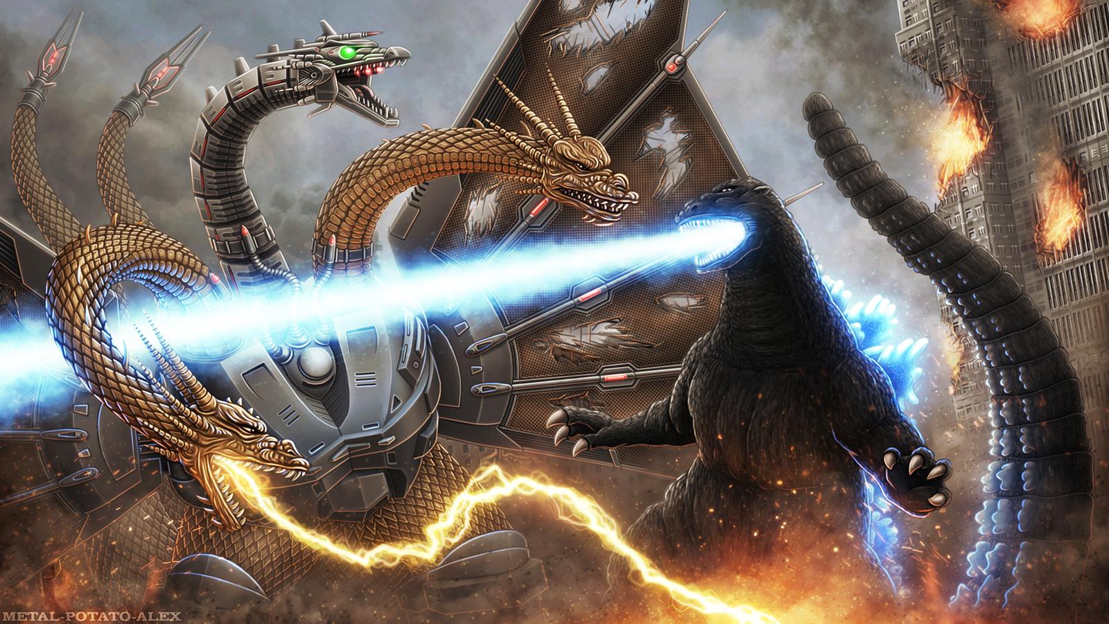 Godzilla - 'Rematch' by OrbitalWings