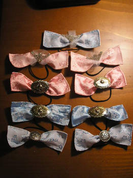 Flowery silky ribbons