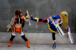 Noel and Makoto @ Otakuthon 2014 - 9 - Kick!