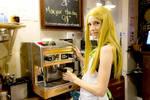 Endou Saya 5 - Coffee shop girl by simakai