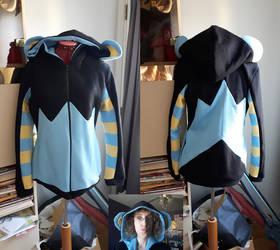 Luxray custom hoodie commission