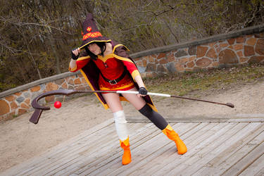 Megumin 3 - Down for a fight by simakai