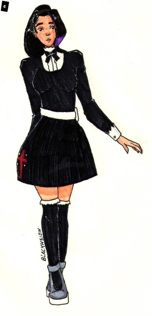Cassie in Uniform