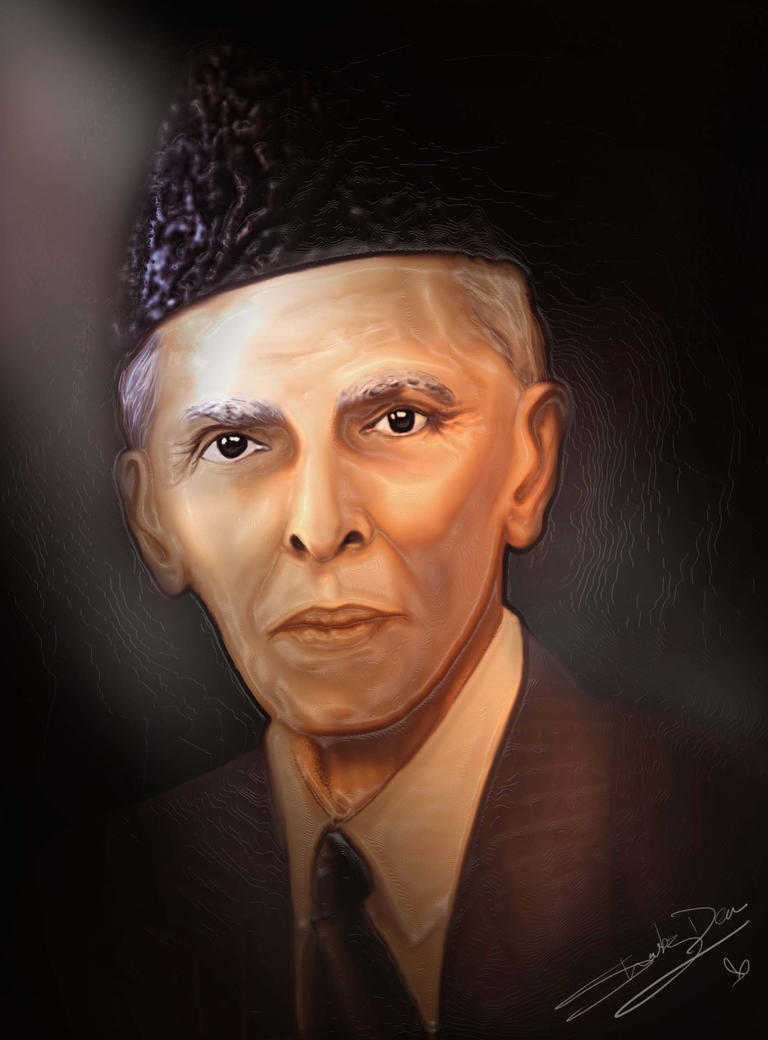 Line Drawing Of Quaid E Azam : Quaid e azam m a jinnah by shabzden on deviantart