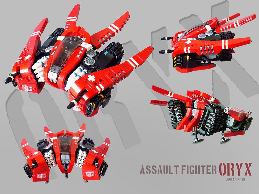 Oryx starfighter/bomber by Scharnvirk