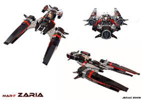 Zaria starfighter by Scharnvirk