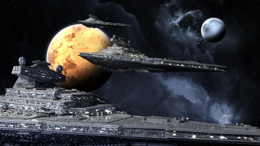 Trio of LEGO Star Destroyers on patrol by Scharnvirk