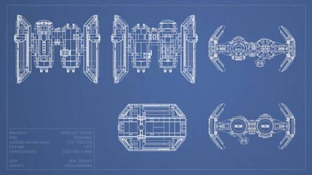 SFS TIE/sa bomber blueprints by Scharnvirk