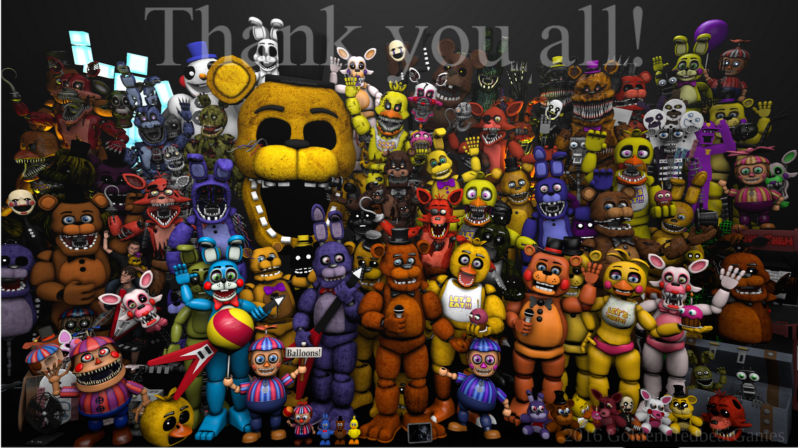 Another Update Fnaf Characters By Sheezy93 Deviantart