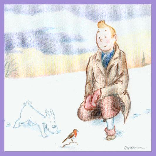 Tintin Christmas Card no.1 by Wainyman