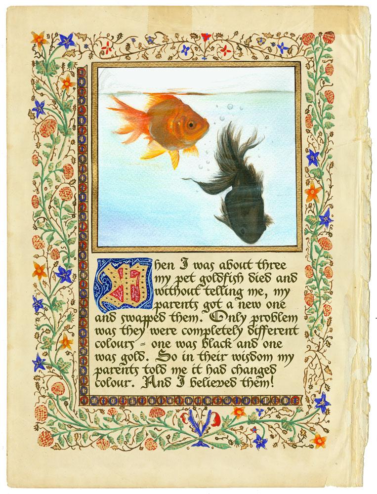 Manuscript 3 - the goldfish by Wainyman