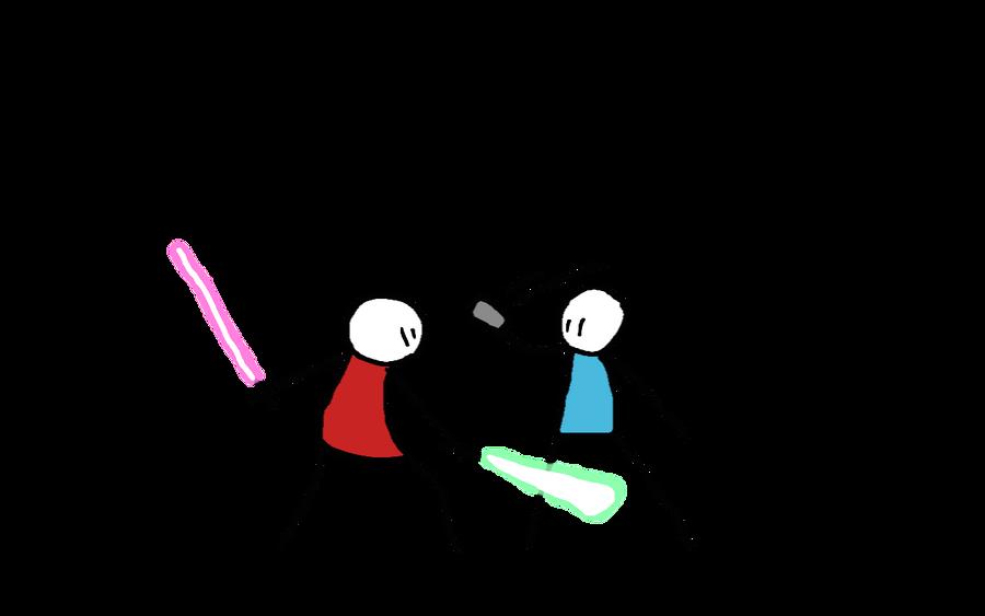 saber vs gun by da