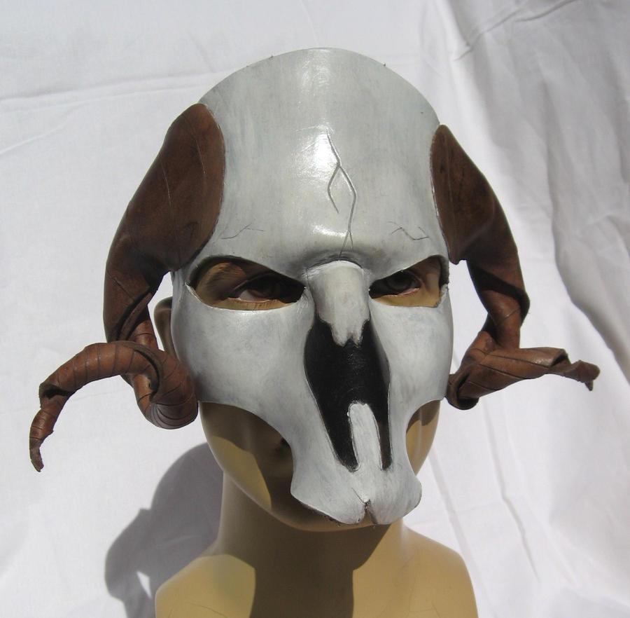 Leather Ram Skull Mask...