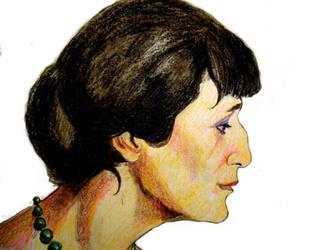 Anna Akhmatova by raschiabarile