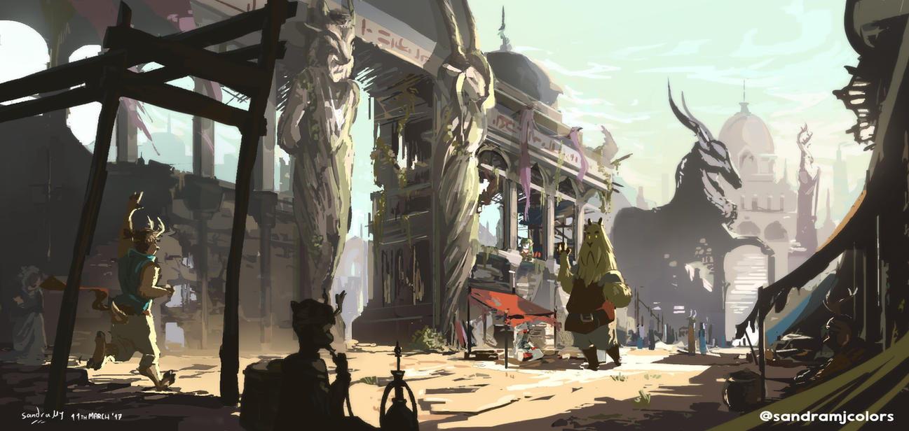 Temple of Merchants (Concept Art) by SandraMJ
