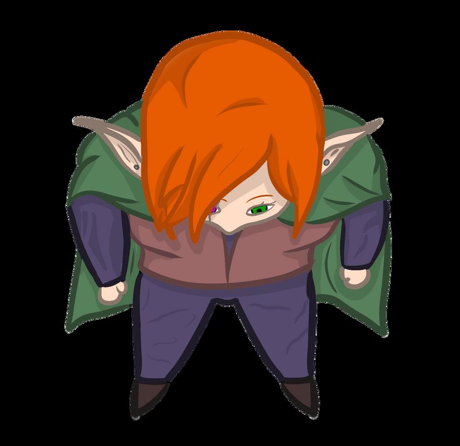 Roll20 free token: Elf girl by FlotVitality