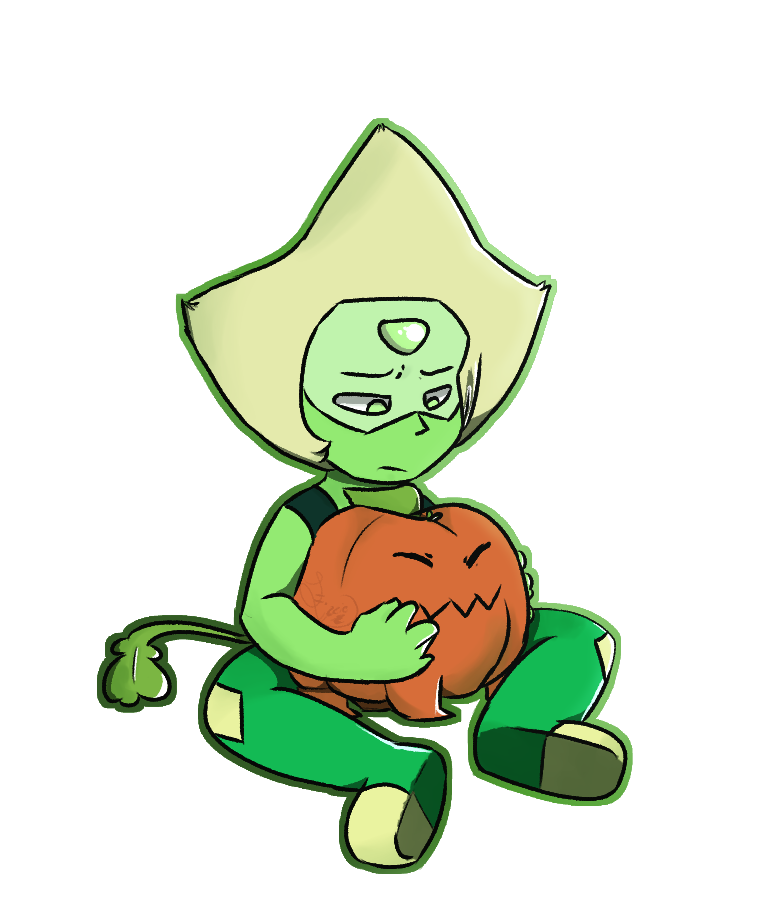 I drew a sad Peridot. Fight me