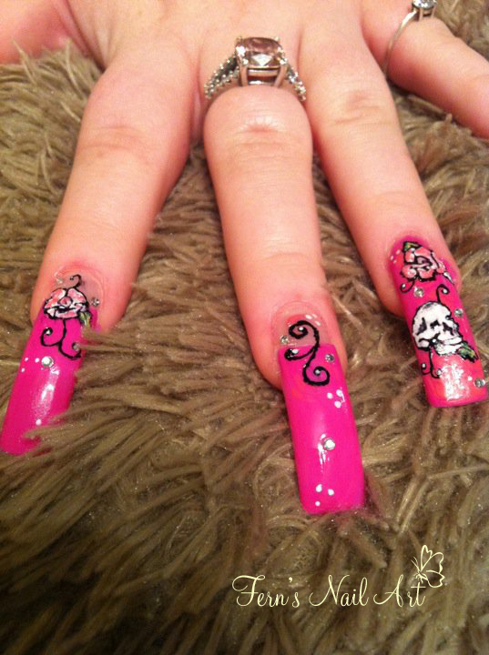 Ed Hardy nail art by Fern-Lianne on DeviantArt