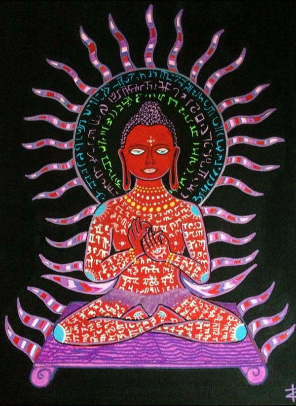 Image result for red psychedelic buddha