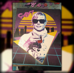 Synthwave Portrait - Stencil Painting