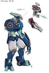Azulonger Mk. III by TheScarlet1