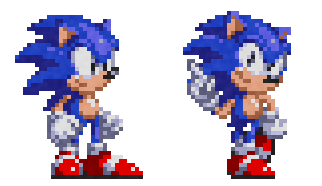 Scarlet Classic Sonic Sprites by TheScarlet1