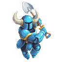 Shovel Knight 128x128 pixel art by TheScarlet1