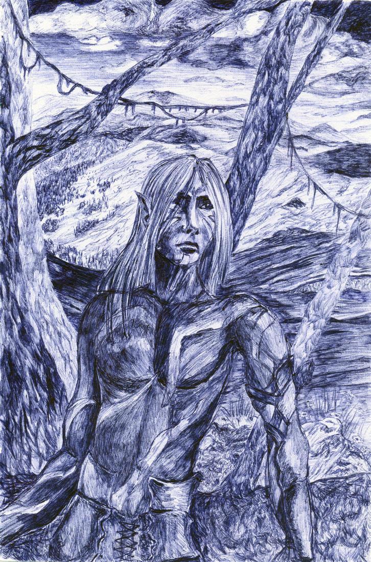 Dark elf by Genny-Raskin
