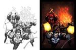 Punisher Daredevil Ghostrider Colors