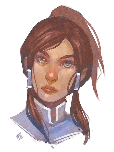 Korra Portrait Speed Paint by kathrynlayno
