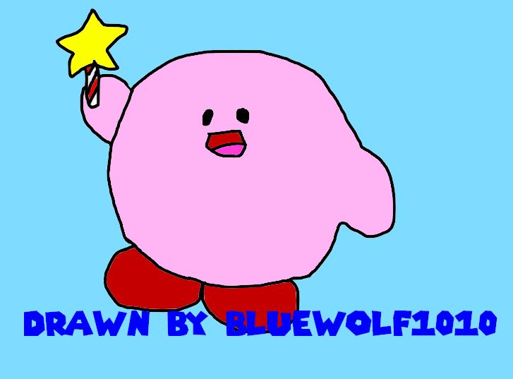 Kirb Drawing by BlueWolf1010