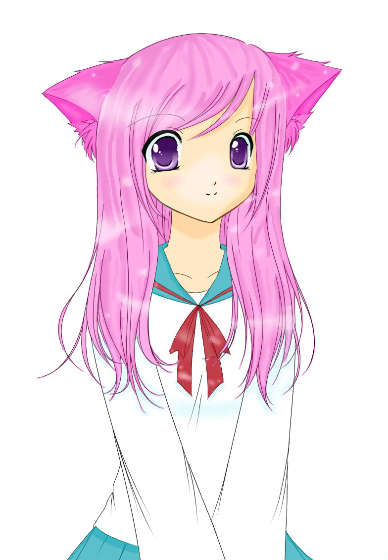 Anime Cat Girl by littlemzrainbowz on DeviantArt