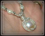 Wire wrapped big pearl pendant by marsvar