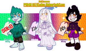 Adoptables - PKMN Gijinka Batch #3 [2-3---OPEN] by MyGhostlyShop