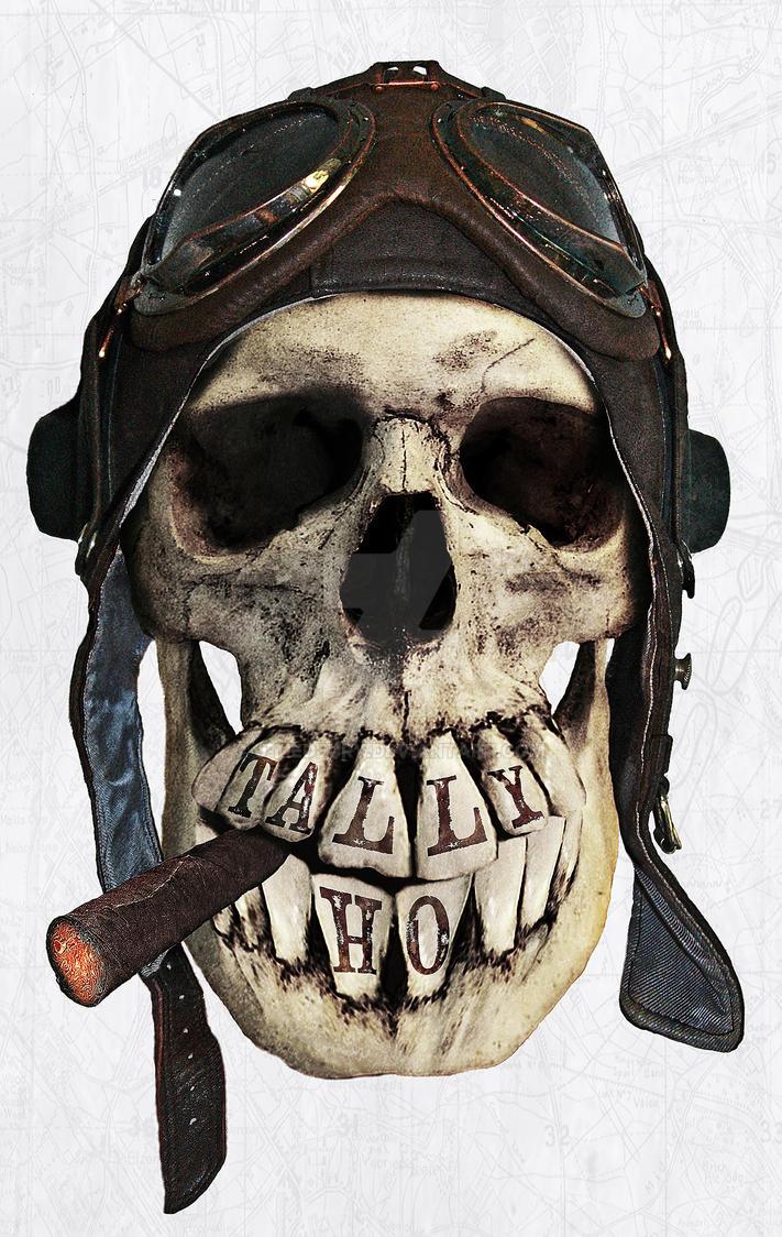 TALLY HO  (skull series 2 of 3) by J-MEDBURY