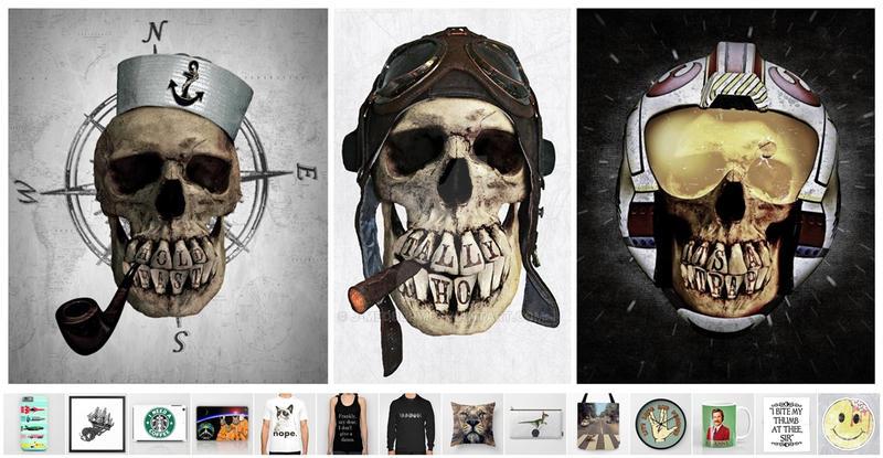 Skull series by J-MEDBURY