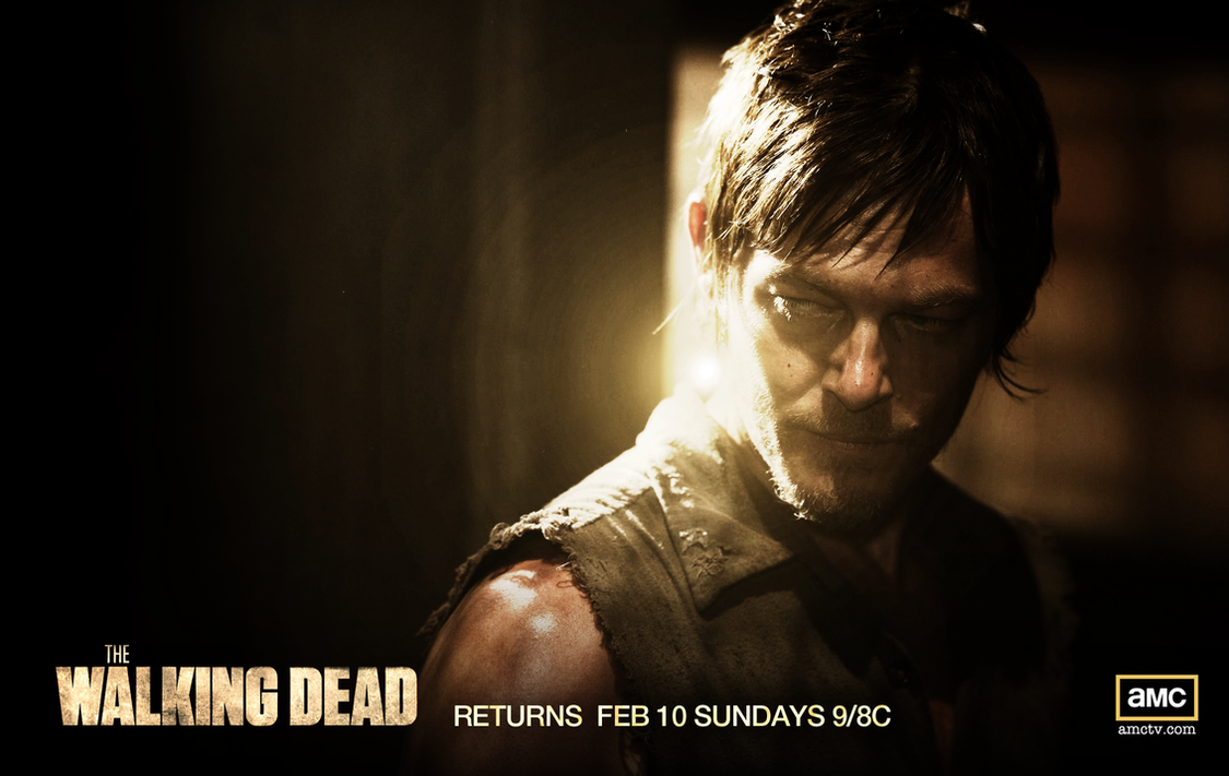 the walking dead daryl wallpaperjevangood on deviantart