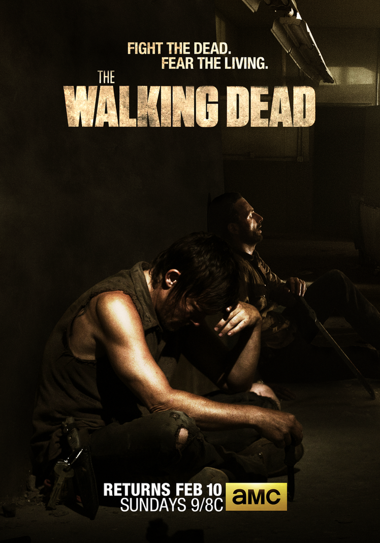 The Walking Dead Daryl And Rick Poster By Jevangood