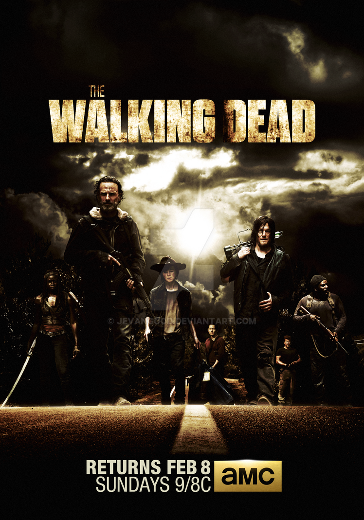 the walking dead season 5 mid poster by jevangood on