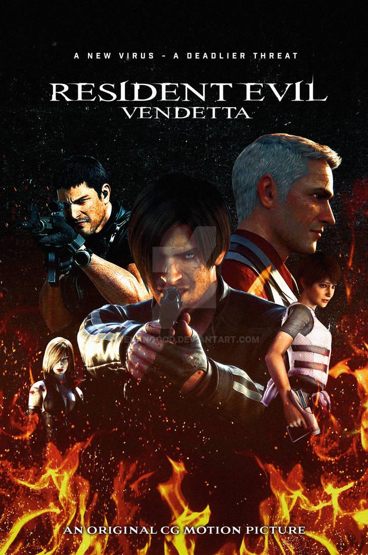 resident evil vendetta movie poster