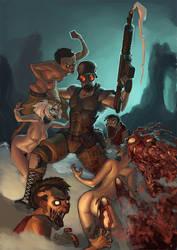 Dead Evolution pinup by Fantasybangcomix