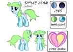 Smiley Beam Reference Sheet + Bio (new)