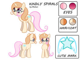 Kindly Spirals Reference Sheet + Bio (new)