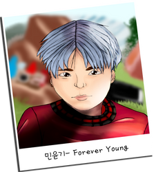 Suga Forever Young Polaroid by sugarrushsketches