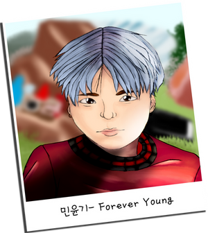 Suga Forever Young Polaroid
