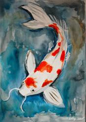 Koi karp/ Fish Koi watercolor by Ashley2020
