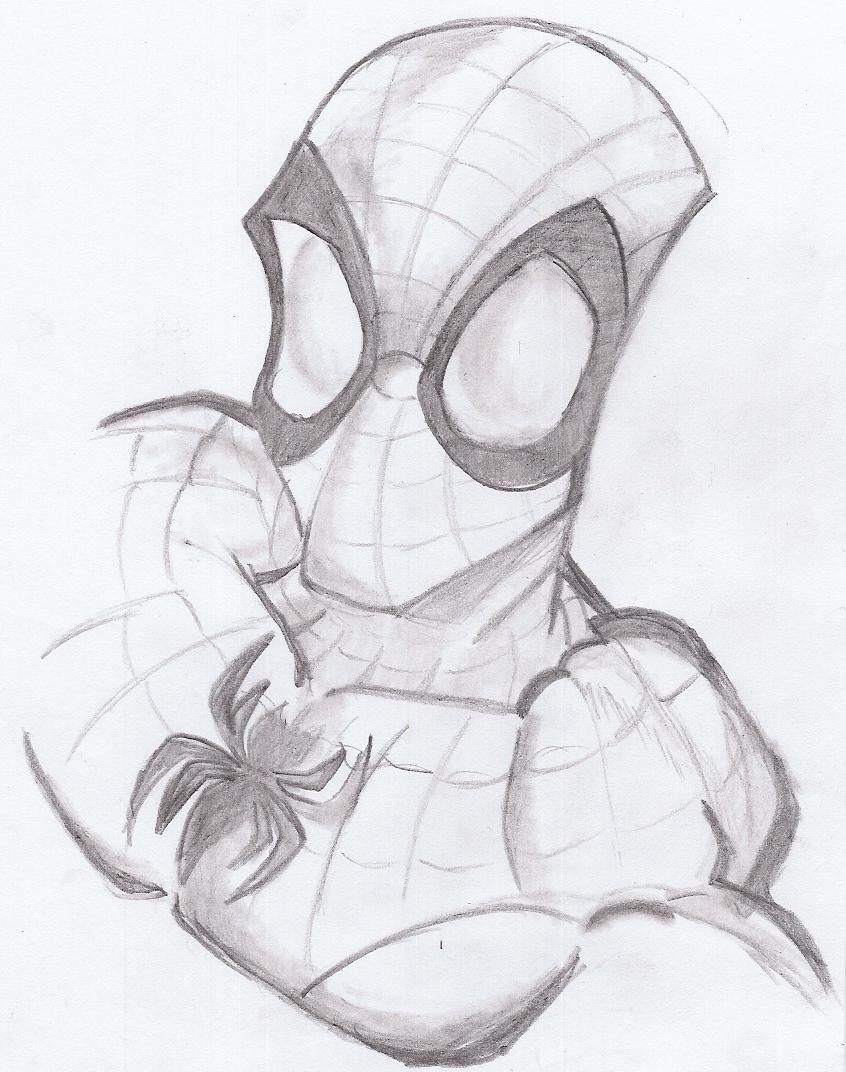 Spiderman Face Line Drawing : Spiderman pencil sketch by mastarofaqua on deviantart