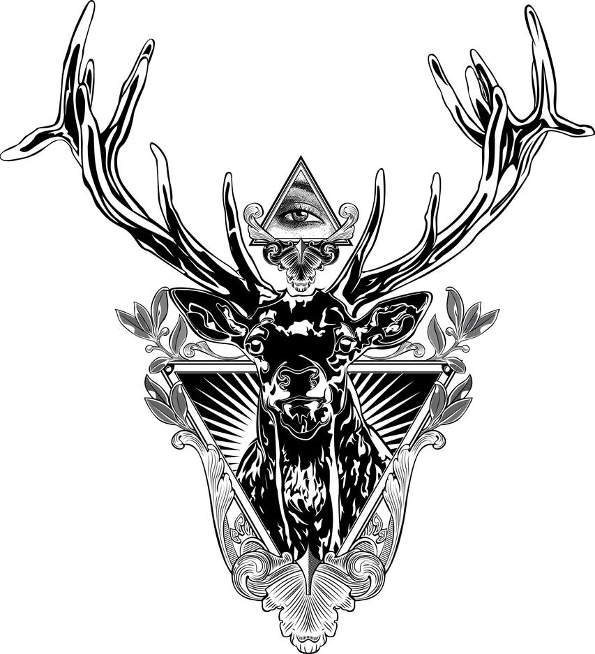 deer by mastarofaqua on deviantart. Black Bedroom Furniture Sets. Home Design Ideas