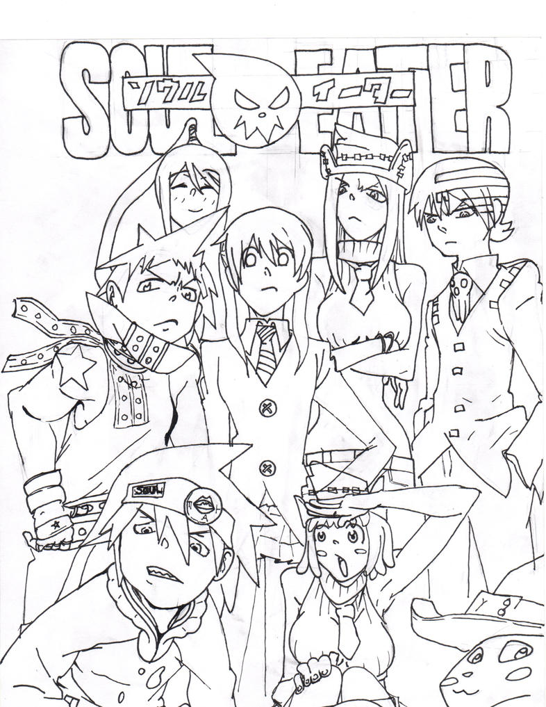 coloring pages of soul eater - photo#18